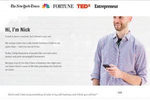 Side Hustle Nick brand website