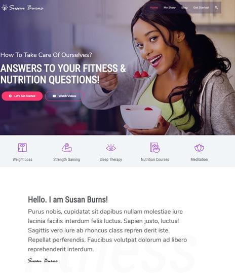WordPress fitness premium template